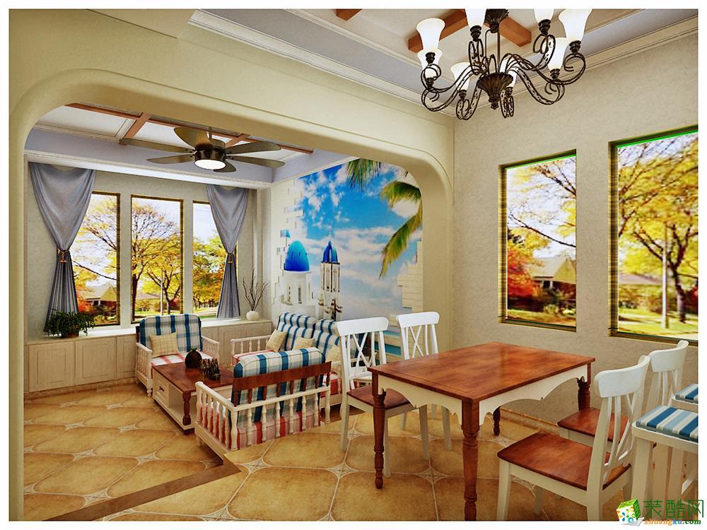 110平三居室欧式风格装修效果图