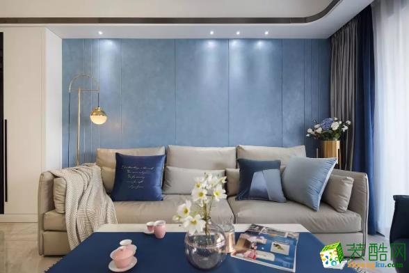 世纪豪庭125�O现代风格装修设计案例_现代风格-三室两厅一卫