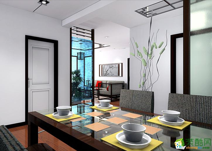 130平三室一厅新中式风格装修效果图