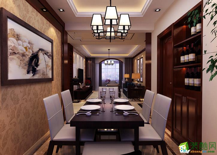 144平米三居室欧式风格装修效果图