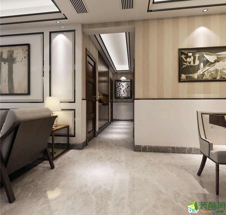 石家庄 三室一厅一卫装修―捷登装饰100平简约风格装修效果图