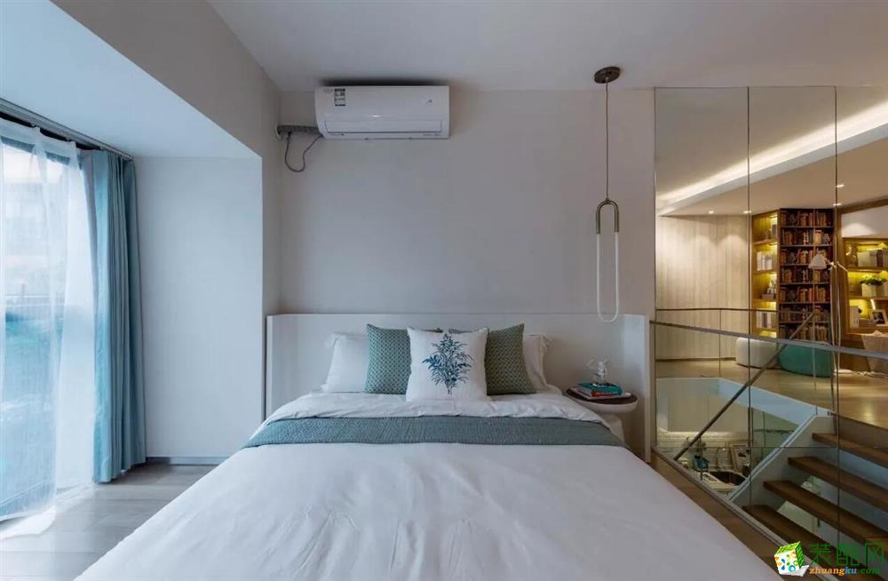 石家庄一室一厅一卫复式装修—捷登装饰61平简约风格装修效果图