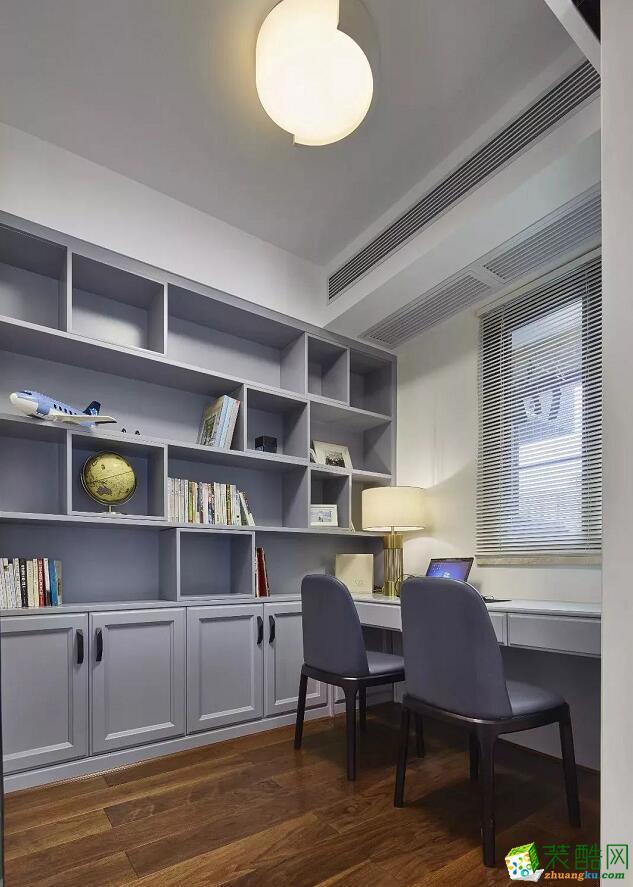 石家庄三室两厅一卫装修―捷登装饰151平现代简约风格装修效果图