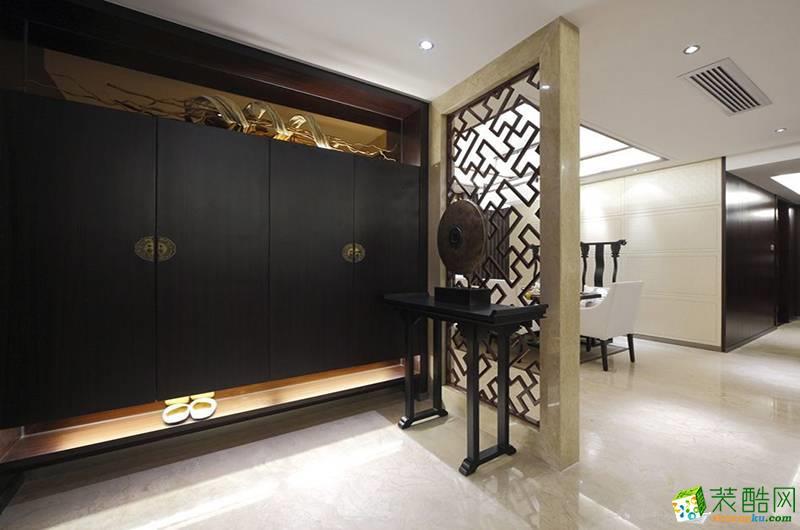 仙桃130㎡三室两厅新中式风格装修效果图