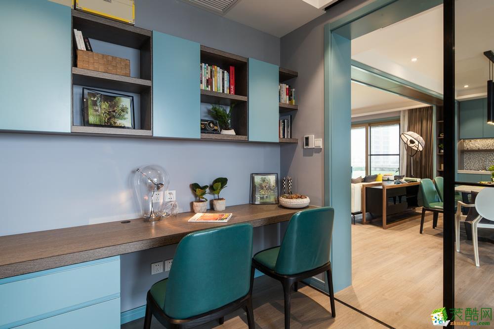南充三室一厅装修-93平米时尚风格装修效果图赏析-佳天下装饰