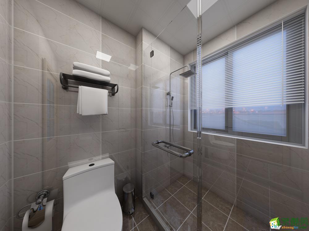 >> 上海三室一厅装修-93平米北欧风格装修效果图-海域装饰
