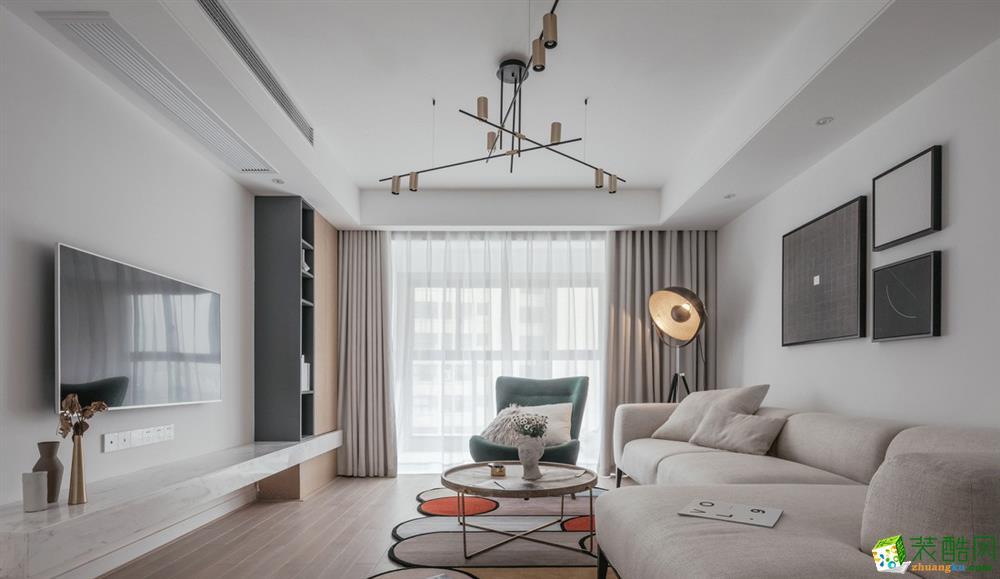 【大美装饰】120平两室两厅装修 北欧风格装修效果图