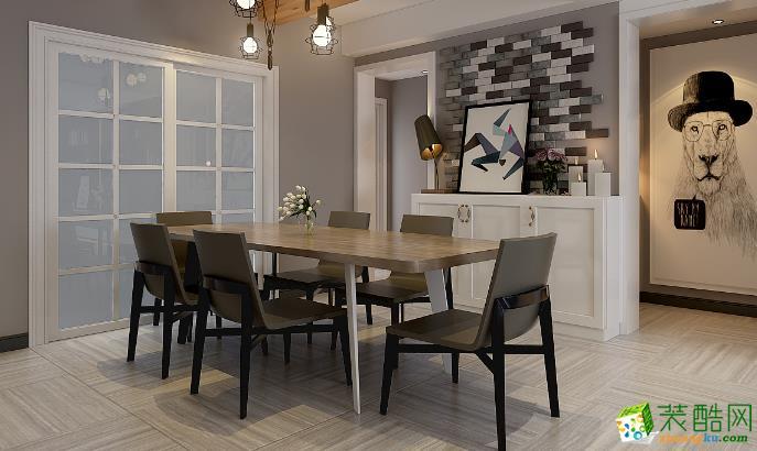 济南一诺装饰-115平米简约三居室装修案例