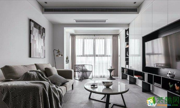 >> 重庆三室一厅装修-90平米现代风格装修效果图-佳天下装饰