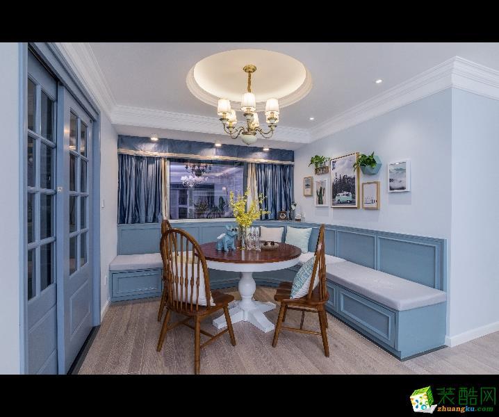 重庆三室两厅装修-金域兰湾120平米时尚风格装修效果图-佳天下装饰