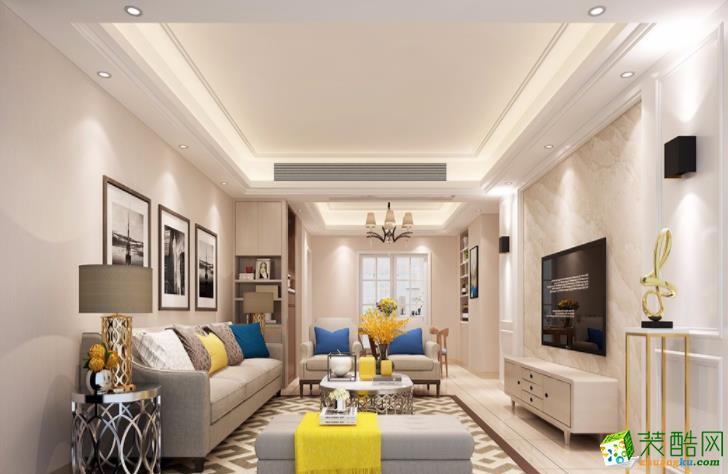 106平米三居室现代风格装修效果图
