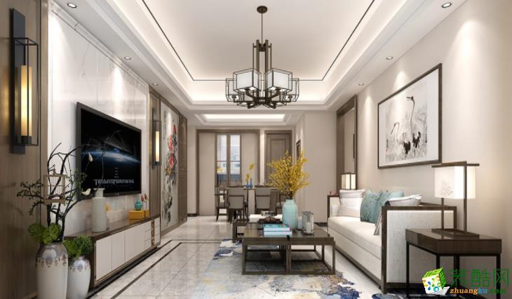 >> 80平米两室一厅欧式风格装修效果图