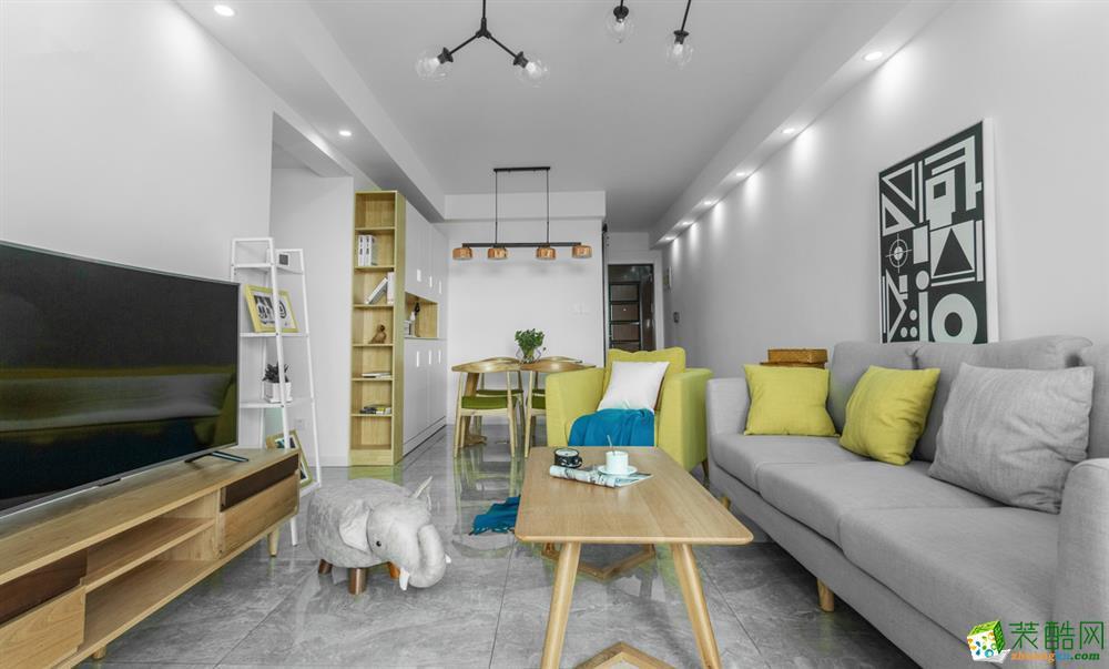 【创艺装饰】139平三室两厅北欧风格装修效果图