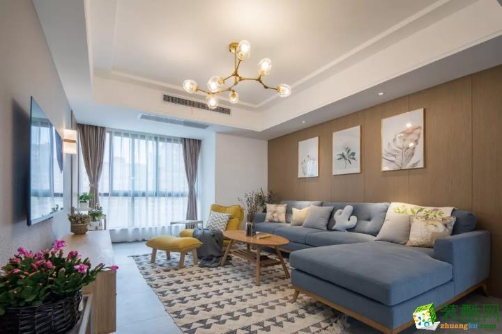 武汉东原启城110�O三室一厅一卫装修效果图
