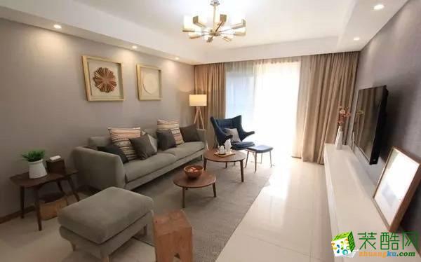 重慶三室兩廳裝修-現代風格90平米裝修效果圖-佳天下裝飾