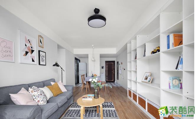 【艺顶装饰】佳州星城-70平两室两厅北欧风格装修效果图