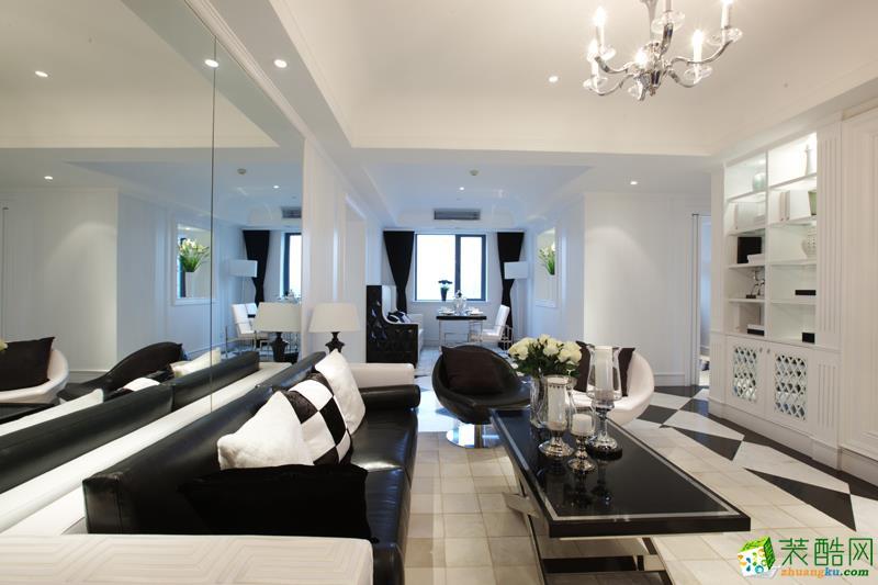 成都两室两厅装修-105平米简约风格装修效果图-城市庄典装饰