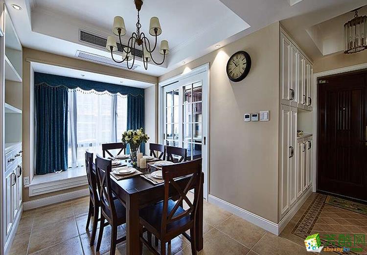 116平米三居室美式风格装修效果图