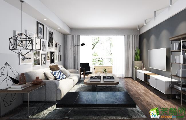 长沙东家乐装饰-119平米现代三居室装修案例
