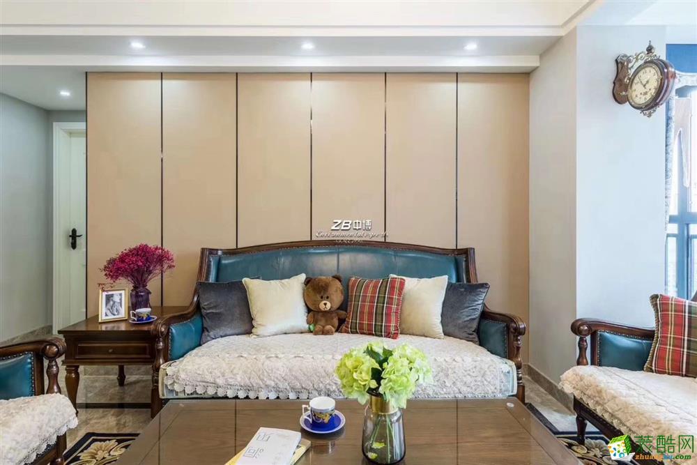 临安美丽湾125方美式风格全装实景设计作品