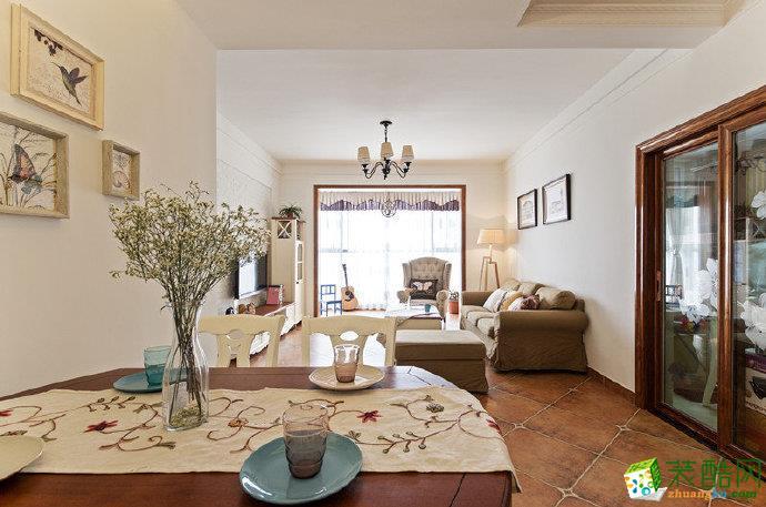 重庆两室两厅装修-美式田园风格90平米装修效果图赏析-佳天下装饰