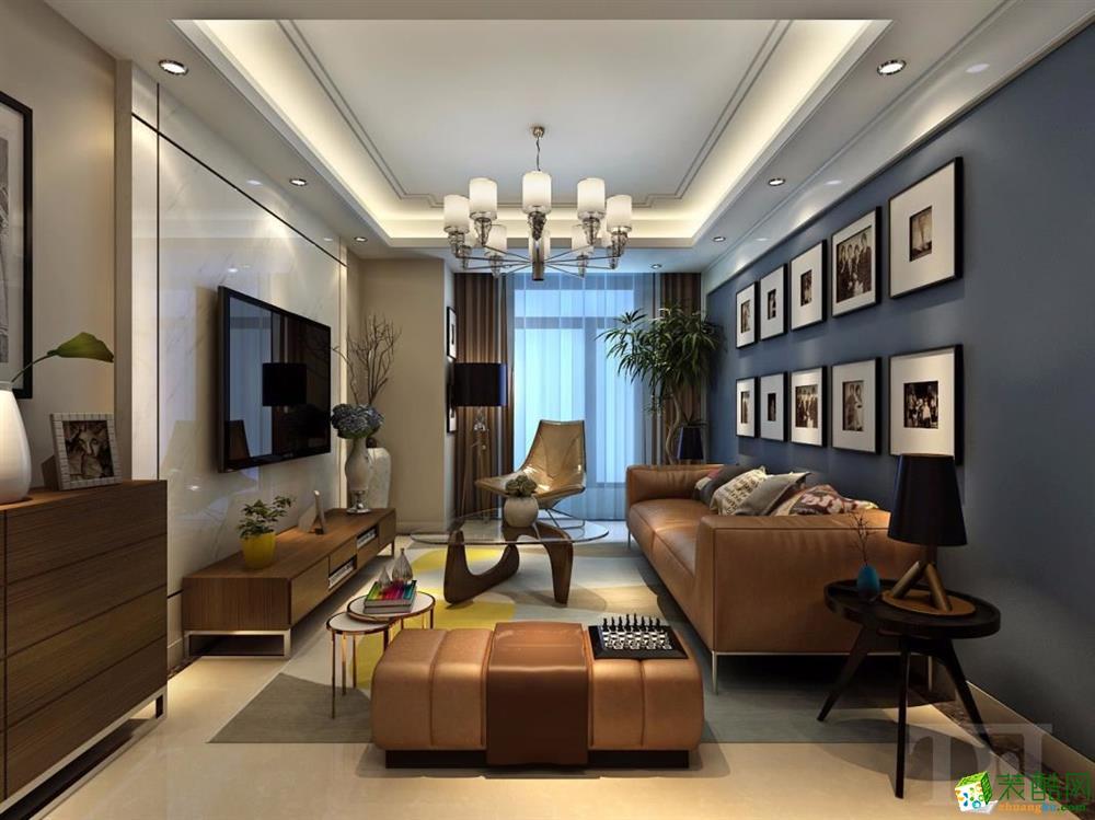 122平米三居室现代简约装修效果图