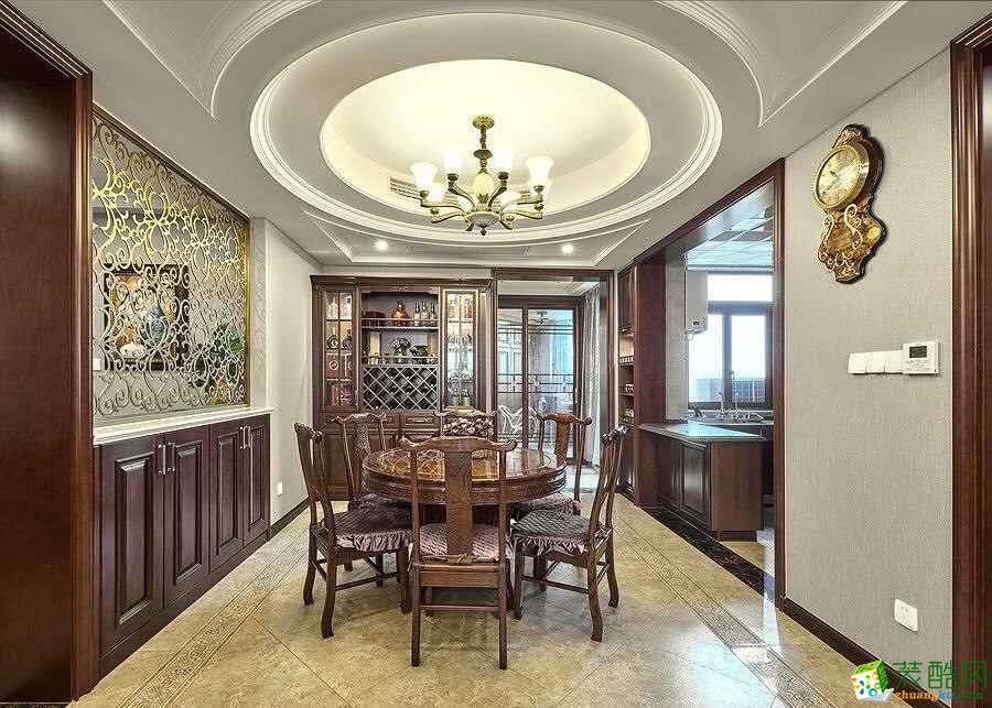 杭州中博装饰—江语海210㎡四室两厅美式风格实景作品