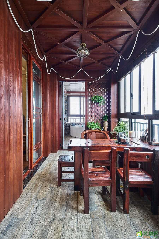 杭州中博装饰―江语海210�O四室两厅美式风格实景作品
