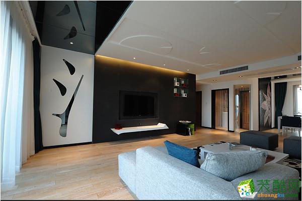 璧山三室一厅装修-98平米现代中式风格装修效果图-达瑞装饰