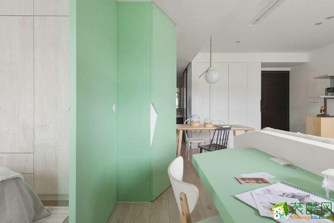 重庆两室两厅装修-北欧风格80平米装修效果图赏析-佳天下装饰