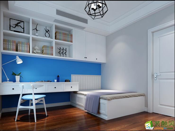 桂林三室两厅两卫装修—桂圳想方装饰145平美式风格装修效果图
