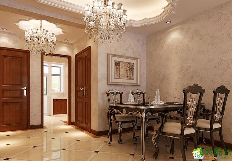 114平米三居室欧式风格装修效果图