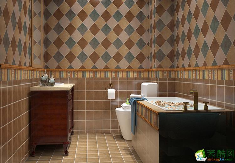 144平三居室美式装修效果图