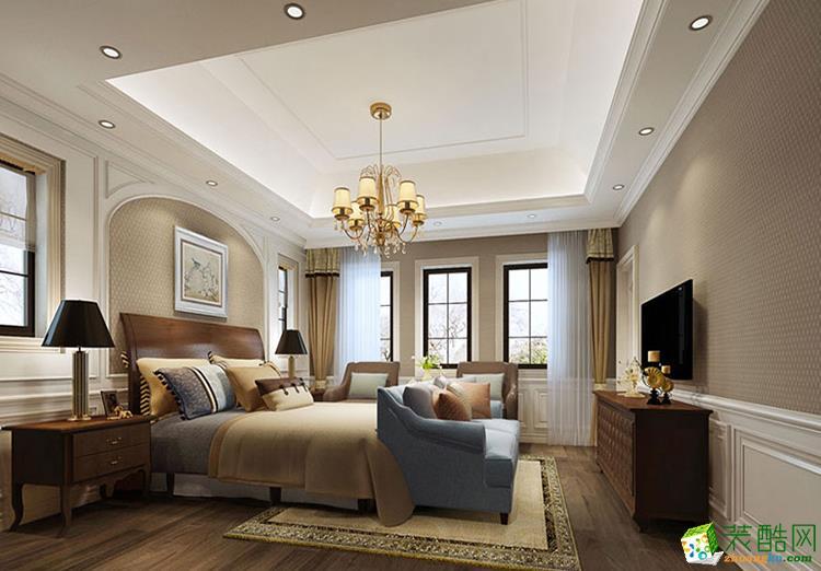 122平米三居室美式风格装修效果图