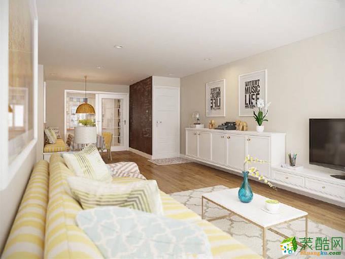 重庆三室两厅装修-120平米北欧风格装修效果图-鸿百年装饰