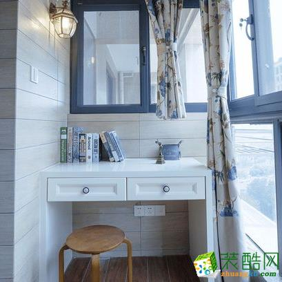 西安四叶草装饰-123平米美式三居室装修案例