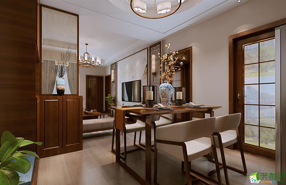 武汉88�O两室两厅一卫新中式风格装修效果图