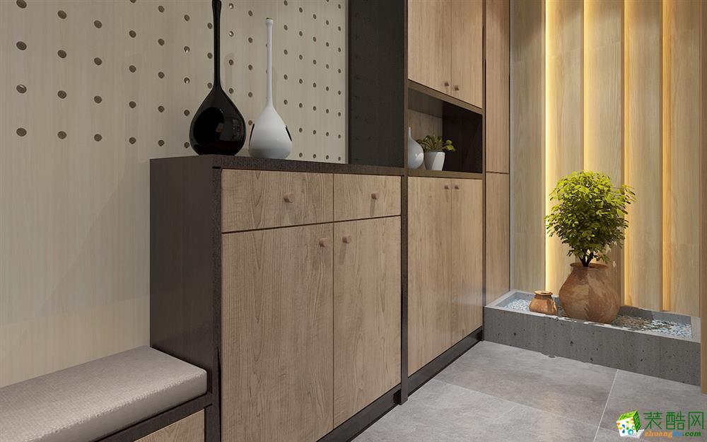 武汉120�O三室两厅一卫日式风格装修设计效果图