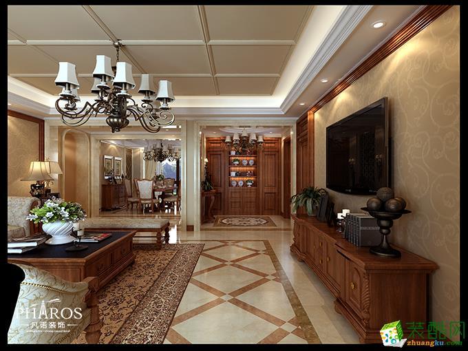 135平米三居室欧式古典风格装修效果图