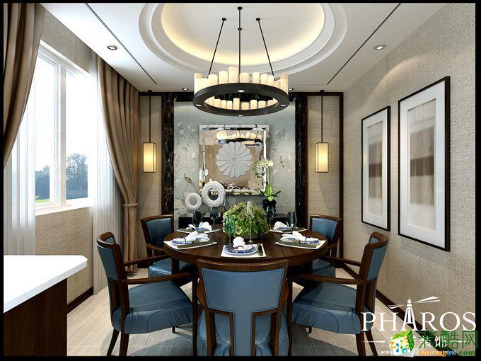 120平三居室中式风格装修效果图