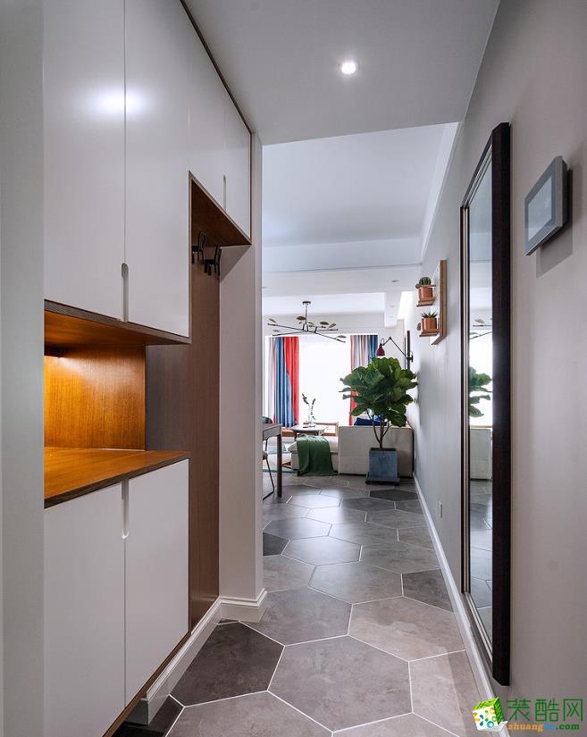 过道吊顶  115㎡两室两厅现代装修效果图
