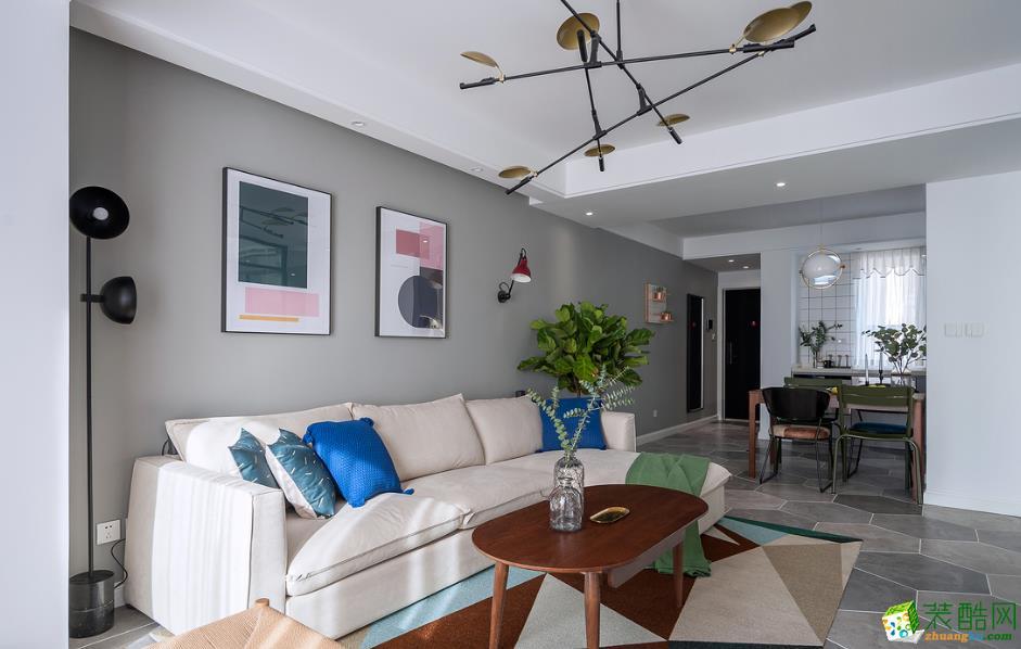 客厅  115㎡两室两厅现代装修效果图
