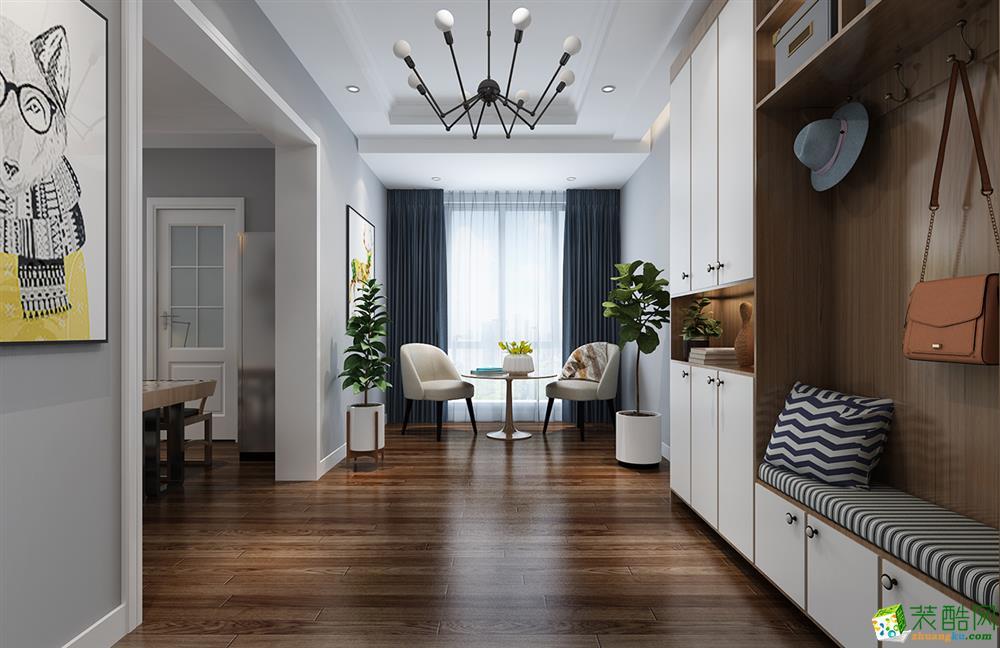 武汉80�O两室一厅一卫简约风格装修效果图