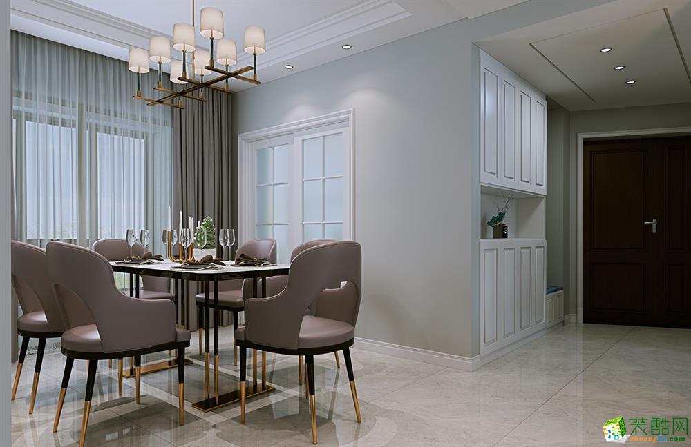 武汉121�O三室两厅两卫轻奢美式风格装修效果图