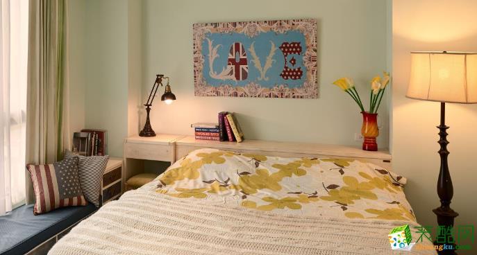 济南汉嘉装饰-85平米美式两居室装修案例