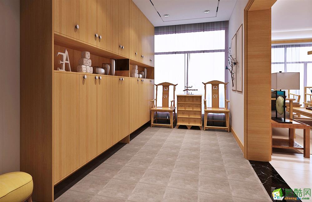 武汉96�O三室一厅一卫日式简约风格装修设计效果图