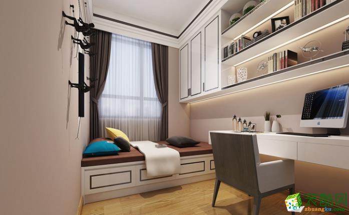 西安四叶草装饰-129平米现代三居室装修案例