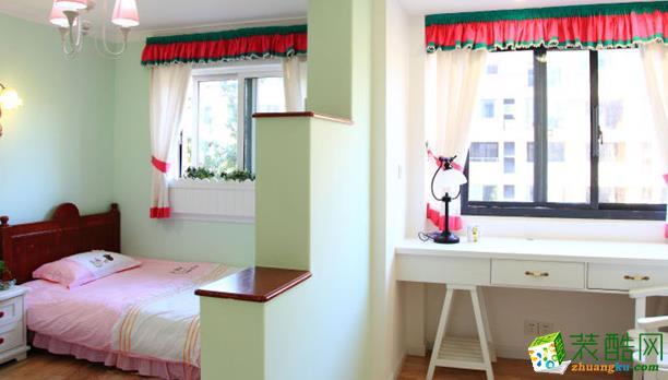 西安宅速美装饰-120平米田园三居室装修案例