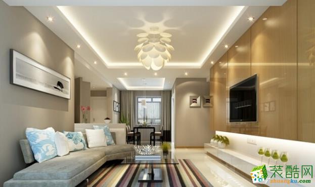 巨宇江南现代简约式109�O两室一厅装修案例