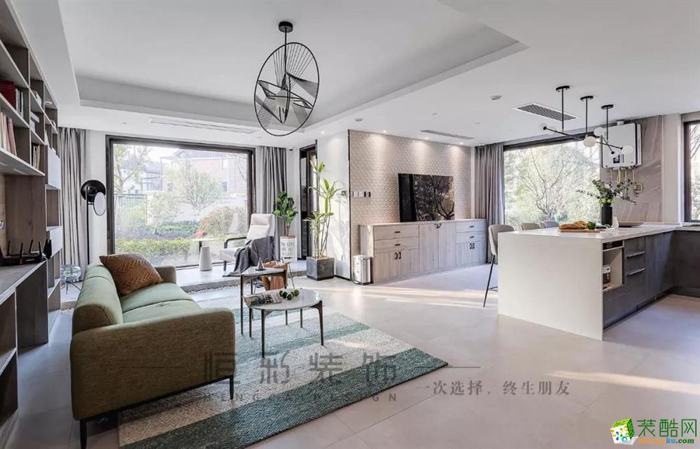 杭州恒彩装饰工程有限公司-三室两厅一卫